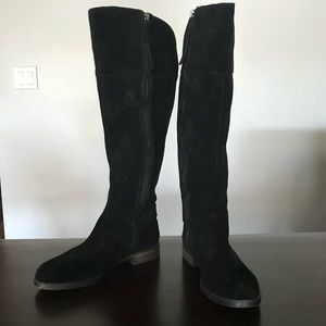 Franco Sarto suede black boots